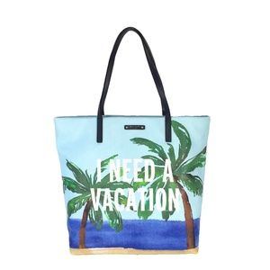 NWT kate spade 'I Need A Vacation' tote & pouch